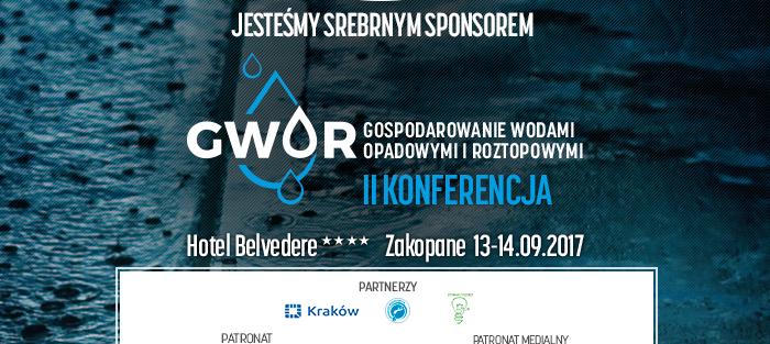Jesteśmy Srebrnym Sponsorem II  Konferencji Gospodarowanie Wodami Opadowymi i Roztopowymi